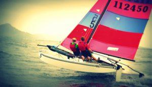 Catamaran segeln