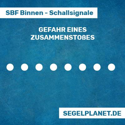 Schallsignale SBF Binnen - Gefahr eines Zusammenstoßes