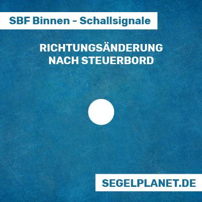 Schallsignale SBF Binnen - Richtungsänderung nach Steuerbord